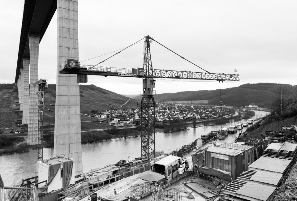 Talbrücke über die Mosel bei Ürzig (Hochmoselbrücke)