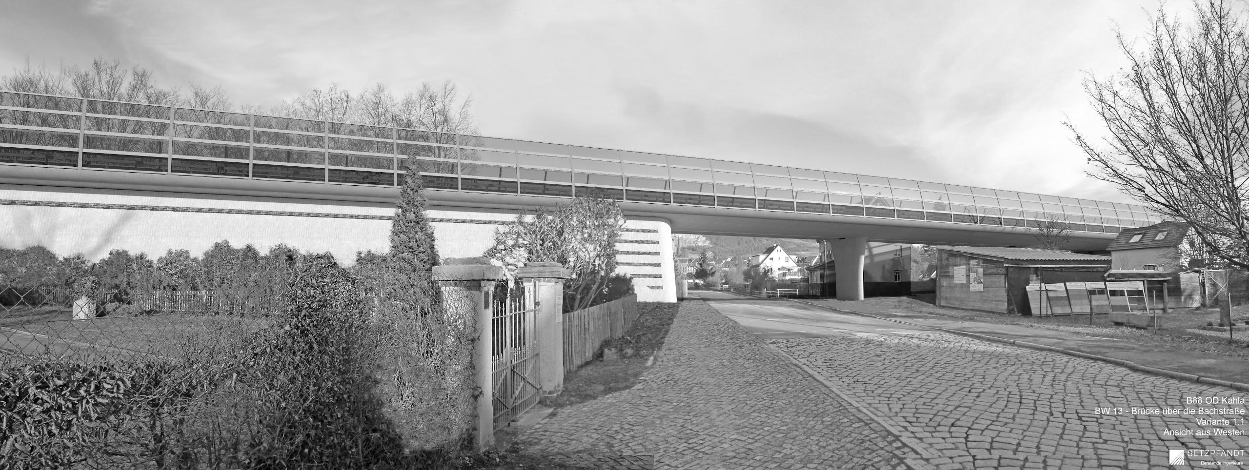 Ausbau der B 88 Kahla – Neubau von Brücken, Stützwänden, Lärm- und Irritationsschutzwänden