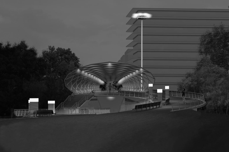Realisierungswettbewerb Rad- und Gehwegbrücke zur ICE-City in Erfurt (Promenadendeck)