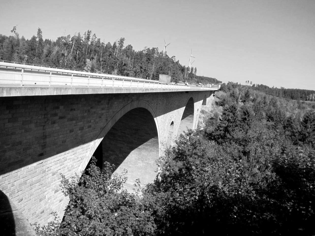 Brückenhauptprüfung Saaletalbrücke
